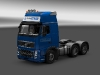 Volvo FH16 Globetrotter - Ewals Cargo Care blue